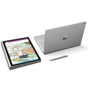 Microsoft Surface Book 34,3 cm (13,5 Zoll) Touchscreen 2-in-1-Notebook - Intel Core i5 (6th Gen) i5-6300U Dual-Core 2,40 GHz - 8 GB - 128 GB SSD - Windows 10 Pro 64-bit - 3000 x 2000 - PixelSense - Hybrid - Silber